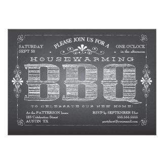 Invitación del Bbq del estreno de una casa de la p