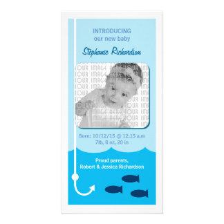 Invitación del bebé de la pesca de la marea baja tarjeta fotográfica