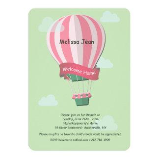 Invitación del bebé de la recepción del globo del