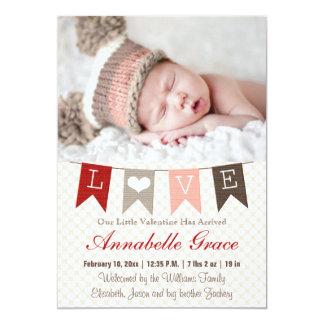 Invitación del bebé de la tarjeta del día de San Invitación 12,7 X 17,8 Cm
