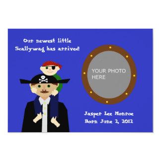 Invitación del bebé del pirata