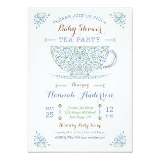 Invitación del bebé II del partido de té de la