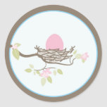 Invitación del bebé o pegatina del favor - huevo r