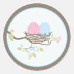 Invitación del bebé o pegatina del favor - huevos