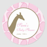 Invitación del bebé o pegatina del favor - rosa