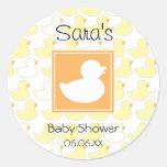 Invitación del bebé o pegatina Ducky de goma del