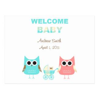 Invitación del bebé tarjeta postal
