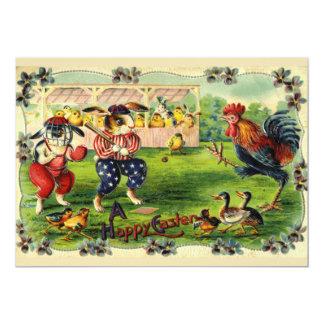 Invitación del béisbol del conejito de pascua invitación 12,7 x 17,8 cm
