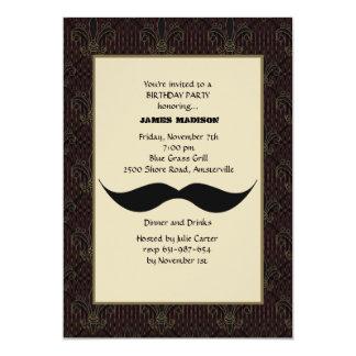 Invitación del bigote invitación 12,7 x 17,8 cm