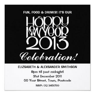 Invitación del blanco de la Feliz Año Nuevo 2013