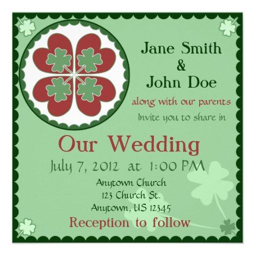 Invitación del boda - afortunada en maleficio del