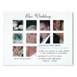 Invitación del boda - collage invitación 10,8 x 13,9 cm