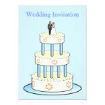 Invitación del boda con el pastel de bodas