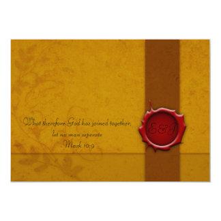 Invitación del boda con el sello invitación 12,7 x 17,8 cm