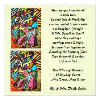 Invitación del boda - danza del amor (cuadrado)
