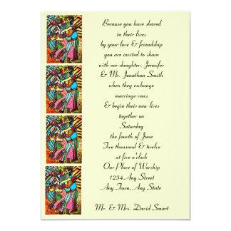 Invitación del boda - danza del amor (rectángulo)