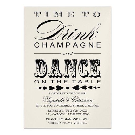 Invitación del boda de Bill del teatro de Champán