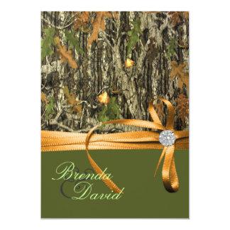 Invitación del boda de Camo de la caza
