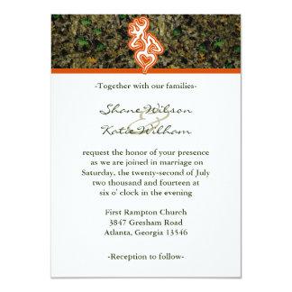 Invitación del boda de Camo de la caza Invitación 11,4 X 15,8 Cm