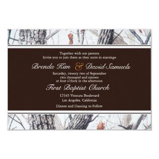 Invitación del boda de Camo del invierno Invitación 8,9 X 12,7 Cm