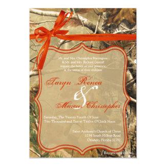 invitación del boda de Camoflouge Camo de los Invitación 12,7 X 17,8 Cm