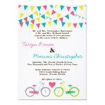 invitación del boda de Carniva de la bicicleta de Invitación 12,7 X 17,8 Cm