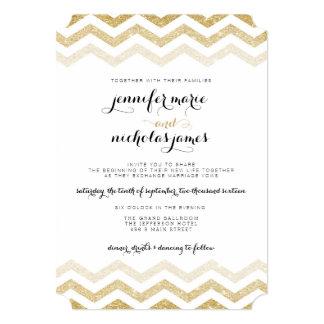 Invitación del boda de Chevron del encanto del