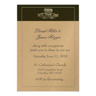 Invitación del boda de Claddagh del irlandés