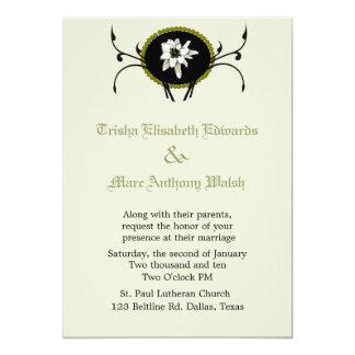 Invitación del boda de Edelweiss Invitación 12,7 X 17,8 Cm