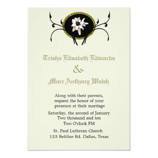Invitación del boda de Edelweiss