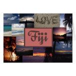 Invitación del boda de Fiji Tarjeta