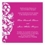 Invitación del boda de Fuschia