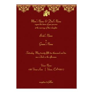 Invitación del boda de Ganesh