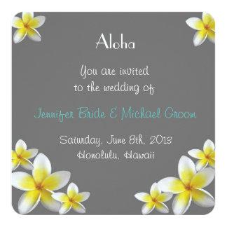 Invitación del boda de Hawaii