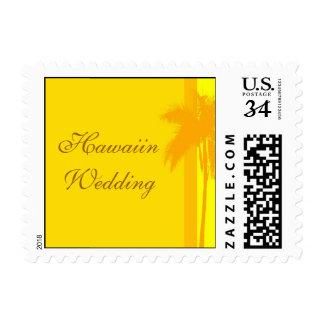Invitación del boda de Hawaiin de la postal Sellos