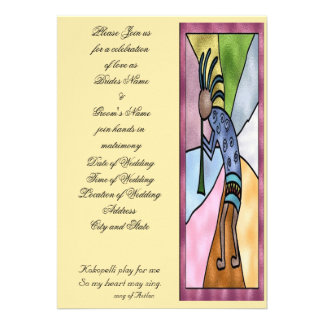 Invitación del boda de Kokopelli