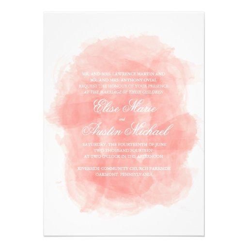 Invitación del boda de la acuarela