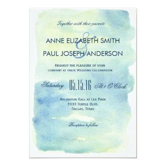 Invitación del boda de la acuarela del océano