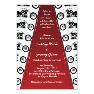 Invitación del boda de la alfombra roja del