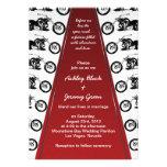 Invitación del boda de la alfombra roja del motori