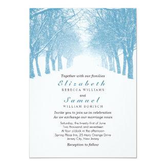 Invitación del boda de la avenida de los árboles