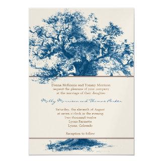 Invitación del boda de la bandera del cenador invitación 12,7 x 17,8 cm