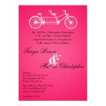 invitación del boda de la bici del doble del negro