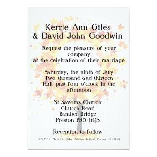 Invitación del boda de la caída