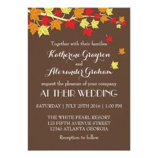 Invitación del boda de la caída de las hojas de ar