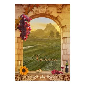 Invitación del boda de la caída del viñedo invitación 12,7 x 17,8 cm