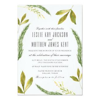 Invitación del boda de la caída - verdor rústico