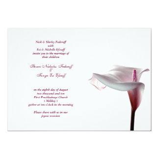 Invitación del boda de la cala invitación 12,7 x 17,8 cm
