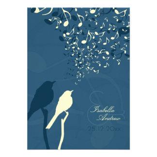 Invitación del boda de la canción de los pájaros d