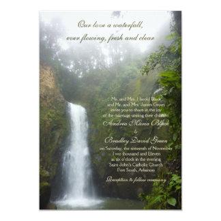 Invitación del boda de la cascada
